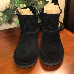 UGG Black Classic Unlined Mini Perforated Boots